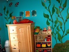 I would like to do my son's room in a Finding Nemo theme.  I love the ideas she had here.  #paint
