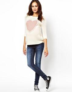 New Look Maternity | New Look Maternity Love Heart Sweater at ASOS