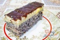 Makové kostky s vanilkovým krémem | NejRecept.cz