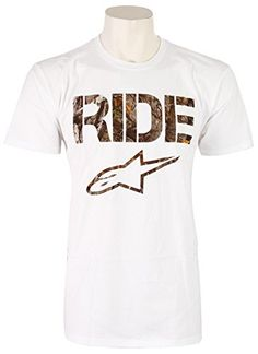 ALPINESTARS Mens Ride Camo T Shirt, White, Medium