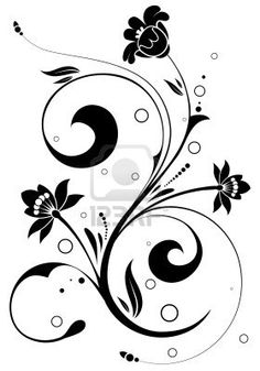 Floral Background with circle, element for design, vector illustration Stock Photo - 5268473