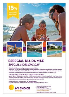 SPECIAL MOTHERS DAY OFFER!!! FOR CACELA, CABANAS DE TAVIRA, FARO, VILAMOURA, ALBUFEIRA, GUIA, GALÉ AND LAGOS. PLEASE CHECK FOR AVAILABILITY.