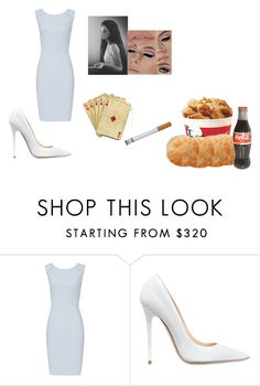 """Nothing wrong with playing cards while eating kfc lol"" by chanel-xoxo123 on Polyvore featuring Reiss, Jimmy Choo and vintage"