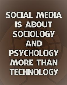 """SEO Marketing Social Media """"Social Media is about sociology and psychology more than technology. Internet Marketing, Social Media Marketing, Online Marketing, Seo Marketing, Social Media Quotes, Social Media Tips, Great Quotes, Inspirational Quotes, Motivational"""