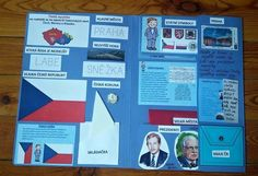 Lapbook Česká republika / Zboží prodejce zichisek | Fler.cz Teaching Geography, Teaching History, Montessori Math, Elementary Science, Interactive Notebooks, Homeschool, Classroom, Education, Teaching Ideas