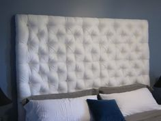 Great DIY Tufted Headboard Tutorial   Actually Wanting To Do This To The  Wall In The RV.