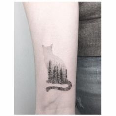 Cat + Forest | Jakub Nowicz Tattoo