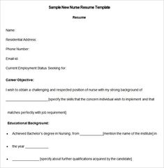 Telemetry Nurse Resume Telemetry Nurse Resume Free  12 Nursing Resume Template  When