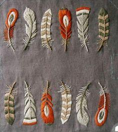 Pin de Sonja en Feathers: | Pinterest | Bordado, Puntadas y Tela