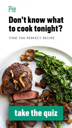 Not sure what to cook? We know the feeling. We've created this simple quiz to find the perfect recipe for you to cook tonight! Dig in!