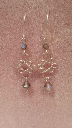 Eight Looped Crystal Earrings