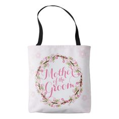 Mother of the Groom Watercolor Wedding Tote Bag - accessories accessory gift idea stylish unique custom