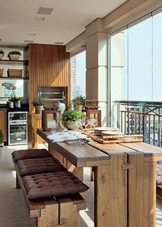 46 Inspiring Mini Bar Design Ideas On Your Apartment Balcony - Home-dsgn Country Kitchen Tables, Kitchen Island Table, Kitchen Island With Seating, Kitchen Dining, Kitchen Decor, Kitchen Islands, Dining Area, Mini Bars, Kitchen Interior