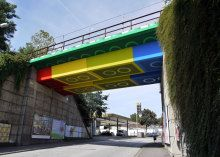 A German street artist transforms a homely bridge into a bright homage to colorful Lego bricks. Read this blog post by Amanda Kooser on Crave. via @CNET