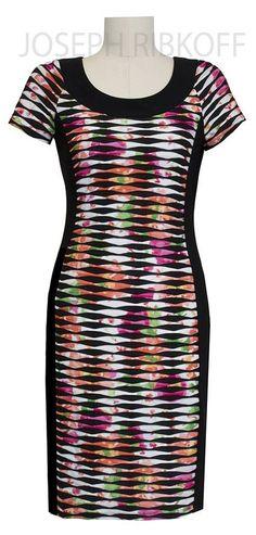 Joseph Ribkoff Dress | Multi Colour | 2016 Collection.# mooi voor een maatje meer http://www.nr4.be/