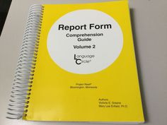 REPORT FORM COMPREHENSION GUIDE BOOK 2, INTERMEDIATE LEVEL, LANGUAGE CIRCLE #Textbook