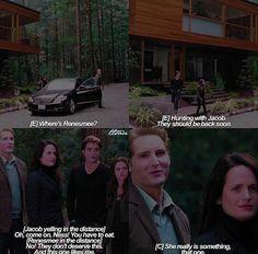 didn't really happen but it's funny Twilight Wolf Pack, Twilight Saga Series, Twilight New Moon, Twilight Renesmee, Twilight Edward, Twilight Jokes, Twilight Movie, Twilight Pictures, Midnight Sun