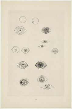 Max Ernst. Système de monnaie solaire (Solar Currency-System) from Histoire Naturelle. 1926.  (Reproduced frottages executed c. 1925).