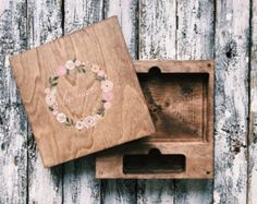 Set of 30 wooden boxes for USB and photo 4x6 by MrPhoto2014