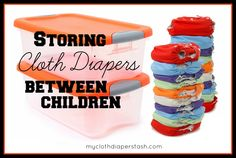 Tips on Storing Cloth Diapers Between Children