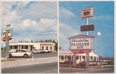 Plantation Pancake Inn in Ocala.  It's an IHOP now.  Dad used to get eggs scrambled with  diced ham, and a vanilla shake. ~K