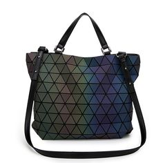 Women BaoBao Bag Geometry Sequins Mirror Saser Plain Folding Bucket Bags  Luminous Handbags Ladies Casual Tote Bao Bao Purse 2017-in Shoulder Bags  from ... 13dd5afcc492