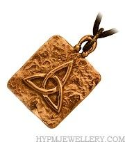 Handcrafted Bronze Trinity Celtic Pendant
