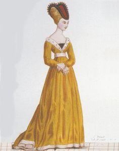 Jeanne de Bourbon, née le 3 février 1338 à Vincennes, morte le 6 février 1378 à Paris, fut reine de France, épouse de Charles V. Elle était fille de Pierre Ier, duc de Bourbon, et d'Isabelle de Valois. Medieval Fashion, Medieval Clothing, Bourbon, 15th Century Fashion, Middle Age Fashion, Medieval Tapestry, Burgundy Fashion, Medieval Costume, Dark Ages