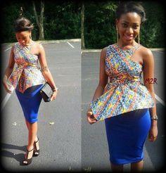 Gorgeous Peplum top with pencil skirt ;)