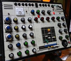 """This EMS Synthi AKS at the Vintage Synthesizer Museum is just like the one Pink Floyd used on """"Dark Side of the Moon."""""""
