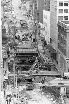 Downtown Seattle Transit Project, Westlake Construction, 1988