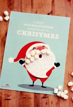 Marshmallow Christmas Countdown Calendar // Free Printable