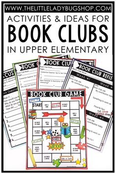 Have you ever wanted to start Book Clubs in your upper elementary classroom? Use book clubs with your literature circles to motivate your students to read different texts and talk about what they're reading. I've been using book clubs in my classroom for over two decades and have shared all of my best tips, ideas, and activities to help get you started! Find out how book clubs work in upper elementary and download a FREE editable book clubs schedule for your classroom. #thelittleladybugshop