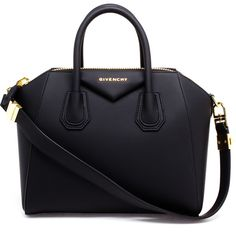 GIVENCHY Small Rubberised Antigona Bag ($1,685) ❤ liked on Polyvore featuring bags, handbags, purses, accessories, bolsa, shoulder strap purses, black leather purse, black leather handbags, black bag and givenchy handbags