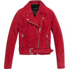 Andrew Marc JESSI - RED - X-LARGE ($599) ❤ liked on Polyvore featuring outerwear, jackets, red, leather jackets, red jacket, biker jacket, red leather jacket, red moto jacket and genuine leather jackets