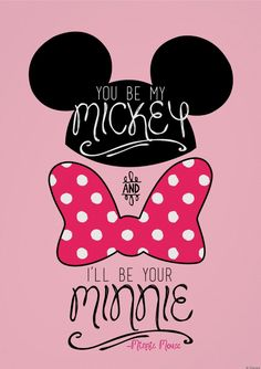 Mickey Minnie Love, Minnie Mouse Bow, Mickey And Friends, Disney Mickey, Mickey Mouse Quotes, Disney Amor, Deco Disney, Wallpaper Do Mickey Mouse, Disney Phone Wallpaper