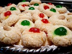 "con frutta corretti (Italian amaretti with candied fruits) Recipe - ""The easiest and most satisfying Amaretto cookie ever made.""""The easiest and most satisfying Amaretto cookie ever made. Italian Cookie Recipes, Italian Cookies, Italian Desserts, Italian Dishes, Italian Christmas Cookies, Christmas Cooking, Christmas Drinks, Christmas Stuff, Amaretti Cookies"