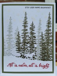Handmade Christmas Card. STAMPIN' UP Wonderland, Sleigh Ride by decamerax3 on Etsy