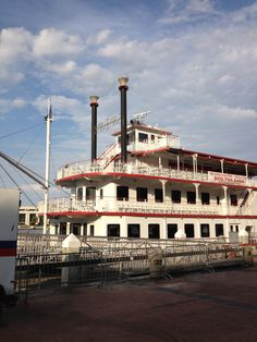 Ride the Riverboat /  Want to do this a few times.  They have a day trip and a dinner cruise.