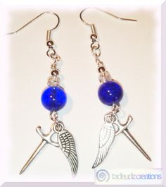 #Supernatural Castiel inspired earrings http://tadeudzcreations.bigcartel.com/product/castiel-inspired-earrings