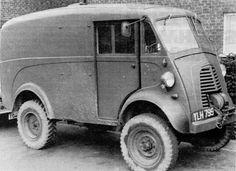 Morris J Van using an Austin Gypsy front axle. Van Living, Vintage Vans, Civil Aviation, Truck Camper, Station Wagon, Heavy Equipment, Big Trucks, Vintage Images, Industrial Design