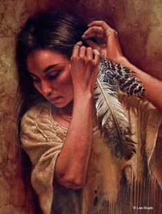 This image is a beautiful mini paper giclee by Lee Bogle. Lee Bogle's. Native American Wolf, Native American Paintings, Native American Wisdom, Native American Pictures, Native American Beauty, Native American History, American Indian Tattoos, American Indian Art, Double Exposition