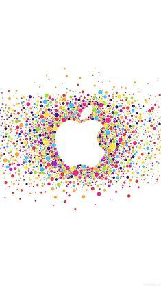 freeios8.com - al57-logo-art-apple-rainbow-minimal - http://freeios8.com/al57-logo-art-apple-rainbow-minimal/ - iPhone, iPad, iOS8, Parallax wallpapers