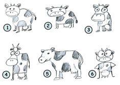 How To Draw Cartoon Cows Step