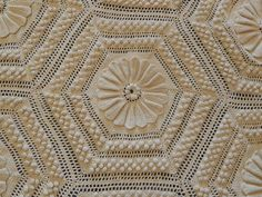 Vintage 1916 Crochet Coverlet Bedspread Bed Covering by ocoeefinds