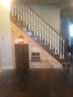 Cute under stair play house! Trevor is awesome!