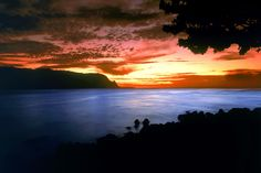 Bali Hai at sunset... can't wait to get back to Hanalei Bay