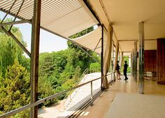Credit: Stillman Rogers/Alamy The living area at the centre of the villa photographed in 2007, before its restoration