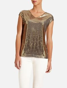 The Limited - Sequin Tee - 4 different colors to choose from!