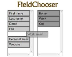 FieldChooser – Drag & Drop Items Between 2 Lists with Multiselect #jQuery #dragNdrop #drag #drop #list #multiselect